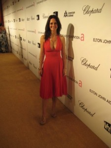 Georgia Cassimatis on the red carpet